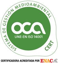 Certificado Sistema de gestión medioambiental ENAC