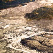 Vista panorámica del frente del glaciar Kaskawulsh, Canadá. DAN SHUGAR